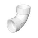 Pipe Fitting Quarter Bend PVC Revit