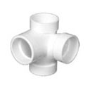 Pipe Fitting Sanitary Tee 2in LeftHand Sanitary Inlet On Center PVC Revit