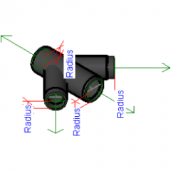 Pipe Fitting Tapped Double Wye Cast Iron Revit