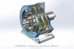 SolidWorks中的行星齿轮箱模型
