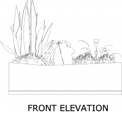 Plant Box for Backyard 1 Elevation dwg Drawing