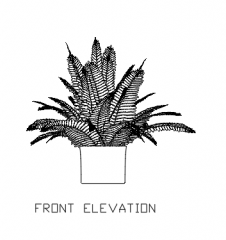 Plant Vase for Bedroom 19 dwg Drawing