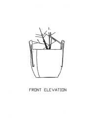 Plant Vase for Center Table 28 Elevation dwg Drawing