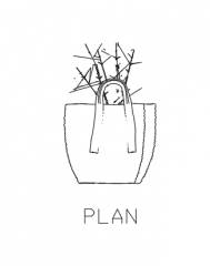 Plant Vase for Center Table 29 Elevation dwg Drawing
