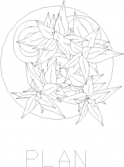 Plant Vase for Bedroom 18 Plan dwg Drawing