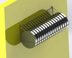 Plate rack assembly Model in solidworks