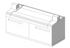 Plotter with 2 drawers revit family