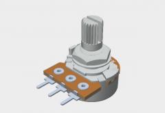 Модель потенциометра в solidworks