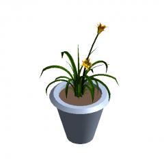 Potted flower revit family