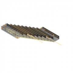 Prefabricated stairs revit family