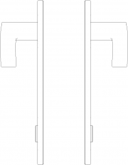 Privacy Lever Doorknob Right Side Elevation dwg Drawing