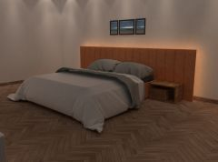 QueenBed sldprt model and fbx