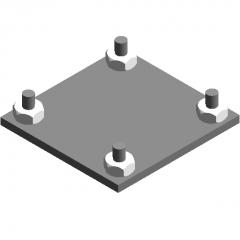 Railing base-railing accessories 4 base revit family