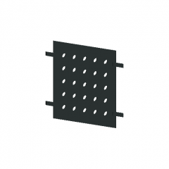 Railing-steel plate-perforated revit family