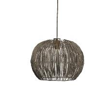 籐製の球形シーリングライトskp