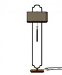 Торшер из ротанга прямоугольный фонарь скп