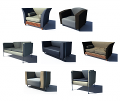 Reception seating 3ds max Vray collection
