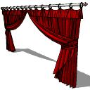 Tende lunghe rosse (151) skp