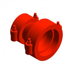 Tubo reductor de ranura de acero modelo revit