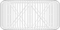 Round Chair Rattan Made Front Elevation dwg Drawing