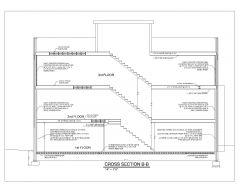 Plan de coupe transversale de conception de maison unifamiliale OP_2 .dwg