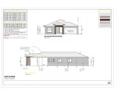 Sloping house with trusses-003