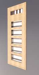 Single window with 5 glass lite and vent light revit model