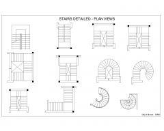 STAIRS DETAILED - PLAN VIEWS