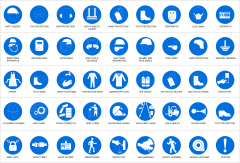 Safety signs CAD collection dwg