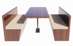 Restaurant table and bench revit family