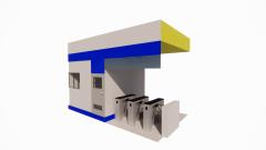 Secutity station revit model