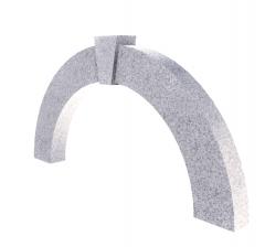 Stone Semi-Circular wall decoration revit family
