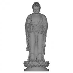 蓮華アブハヤムドラskpの上に立っている釈迦牟尼阿弥陀仏