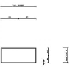 Shelf Freestanding Four Shelves Revit