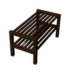 wooden designed shoe rack 3d model .3dm format