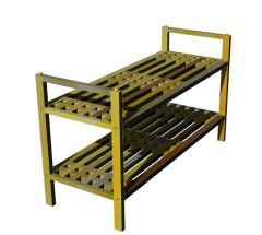 small desgined shoe rack with  two sheleves 3d model .3dm format