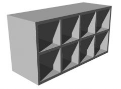 small designed shoe rack with  two shelves 3d model .3dm format