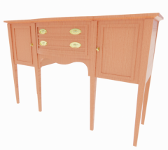 Wooden Sideboard with drawers revit family