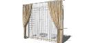 Silk 2 layer curtains(272) skp