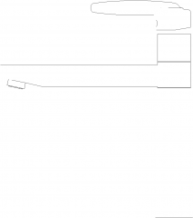 Single Handle Mixer Lavatory Faucet Right Side Elevation dwg Drawing