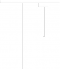 Single Handle Stainless Faucet Plan dwg Drawing