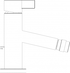 Single Lever Mixer Faucet Left Side Elevation dwg Drawing