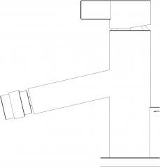 Single Lever Mixer Faucet Right Side Elevation dwg Drawing