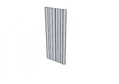 Single grey curtains(98) skp