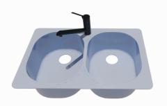 Sink Kitchen - Small 2 Basins revit family