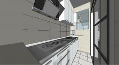 小厨房设计skp