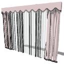 Weiche rosa Vorhänge (193) skp