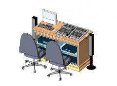 Sound Equipment Desk Revit Family