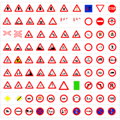 Spanish road signs CAD collection dwg
