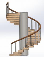 Spiral staircase sldprt Model